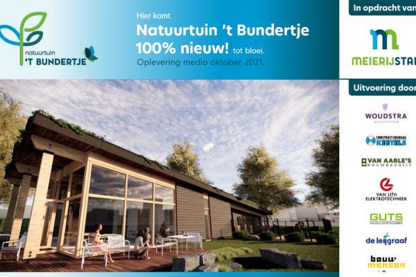 Start nieuwbouw Natuurtuin 't Bundertje